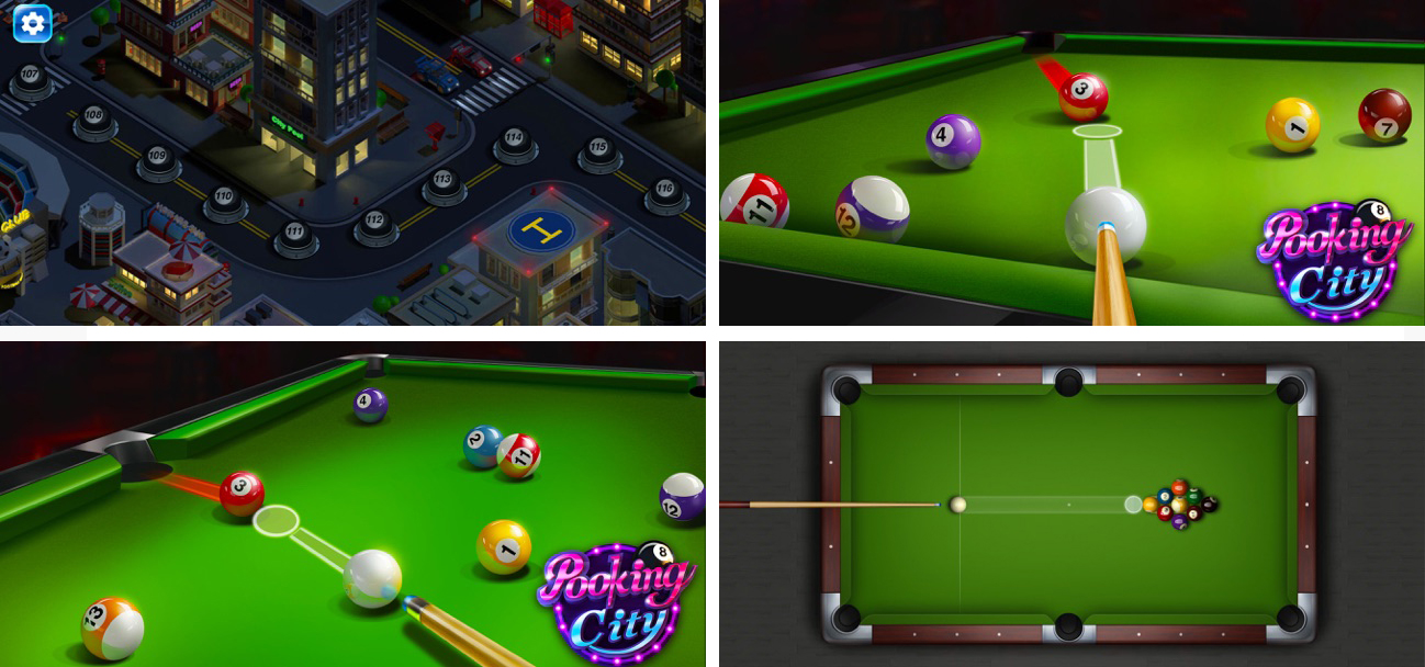 نمای بازی Pooking - Billiards City